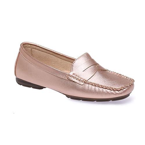 La Modeuse - Mocasines para mujer, rosa (Doré rose), 36: Amazon.es: Zapatos y complementos
