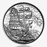 Elemental Privateer: The Ship in the Storm, First Release, 2-oz. .999 FineSilverRound