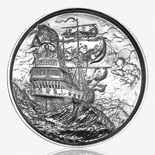 Elemental Privateer: The Ship in the Storm, First Release, 2-oz. .999 FineSilverRound (2 Oz Privateer Ultra High Relief Silver Round)