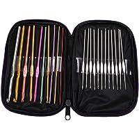 Oulensy 55pcs Bordado Agujas de Coser Kits de Acero Inoxidable Set de Costura de la reparaci/ón del Arte del edred/ón Agujas Accesorios de Costura