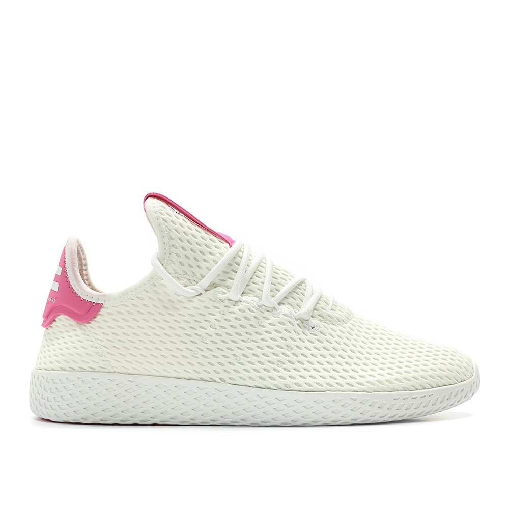 adidas Men's Pw Tennis Hu Sneaker B0767J1VLH 9 D(M) US|White/Semi Solar Pink