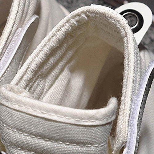 Versione Scarpe Selvagge Aiuta Scarpe Scarpe di Casual Comode Tela Stagione Paio Estiva A LIUXUEPING Coreana Gao Maschio Scarpe Bang Bianca Bianche 1aTvEqw