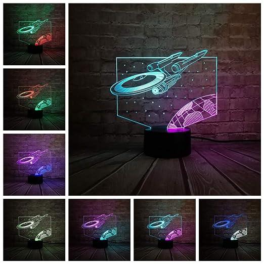 Couleur 3d Mixte Dirigeable Lampe Sakj Dessinée Bande Lumières D 543jRLA