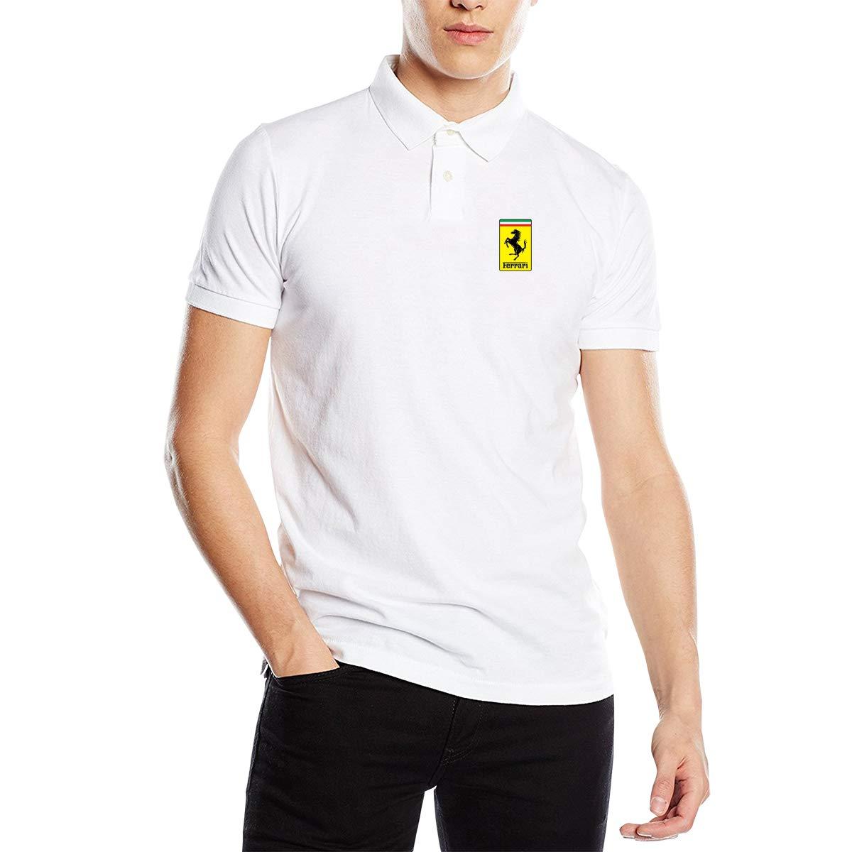 Censu Custom Mens General Motors Ferrari Logo Classic Polo Shirts T Shirts Short-Sleeve Tee Top.Tees Top