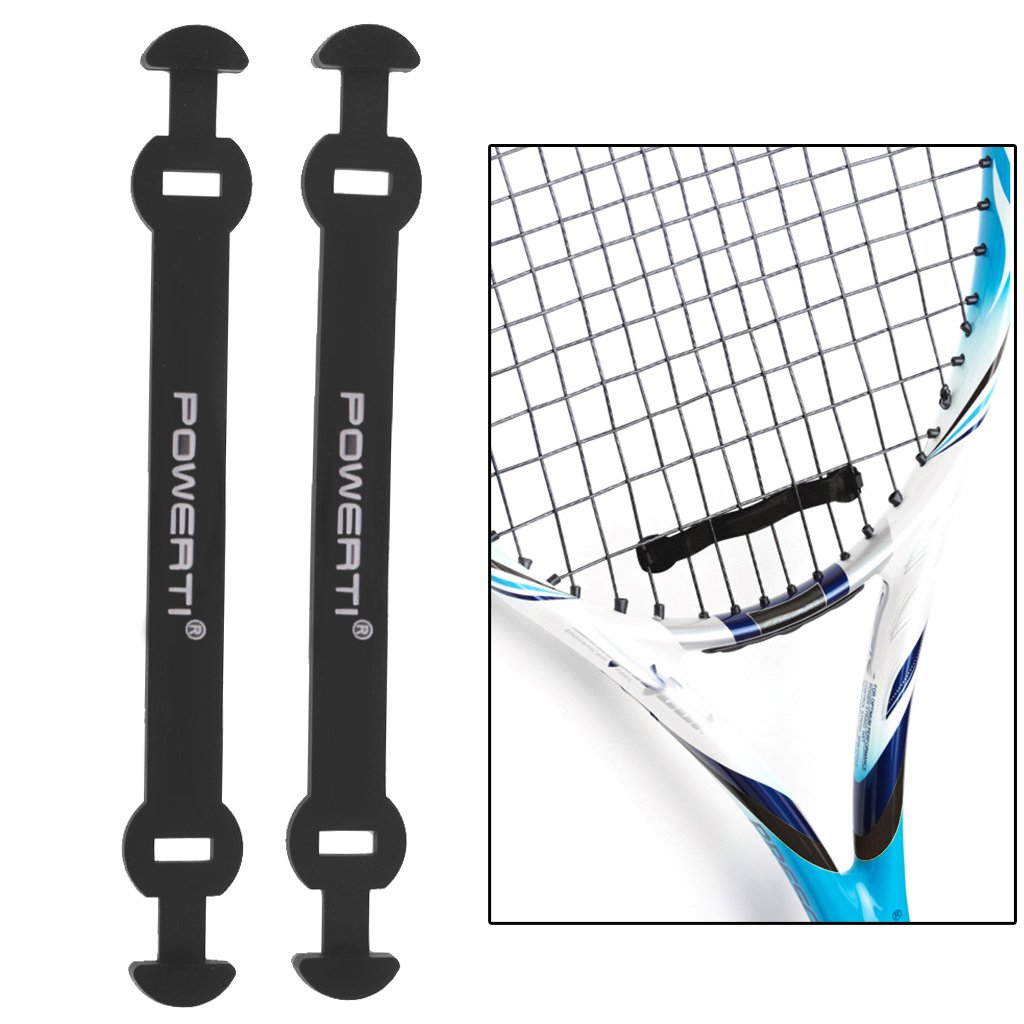 MagiDeal Set of 2 Long Tennis Squash Racket Vibration Dampeners Shock Absorber Shockproof Damper - Black, Approx 10.4cm: Amazon.com: Industrial & Scientific