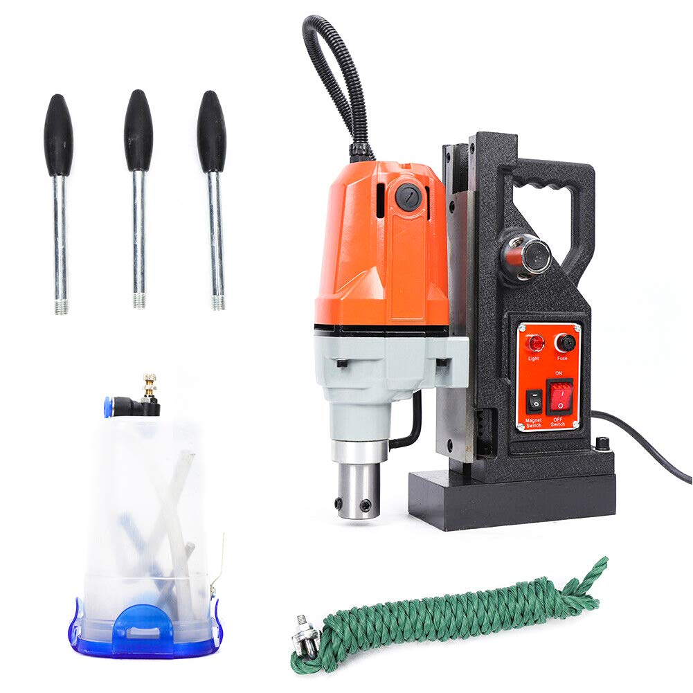 Drill TBVECHI 1100W Magnetic drill Press Z3040 High-Speed Drilling SDT Annular Cutters Metal Surface 550RPM 2700Lb