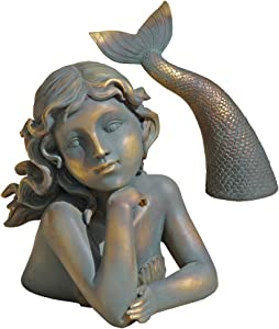 Design Toscano QL30330 Merissa, Siren of the Sea Mermaid Statue,full color