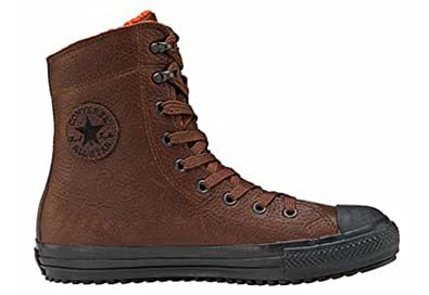 mens brown leather converse boots