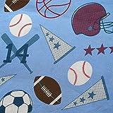 Kids Collection Sports Baseball, Football, Soccer, Basketball Twin 3-piece Soft Lightweight Microfiber Sheet Set