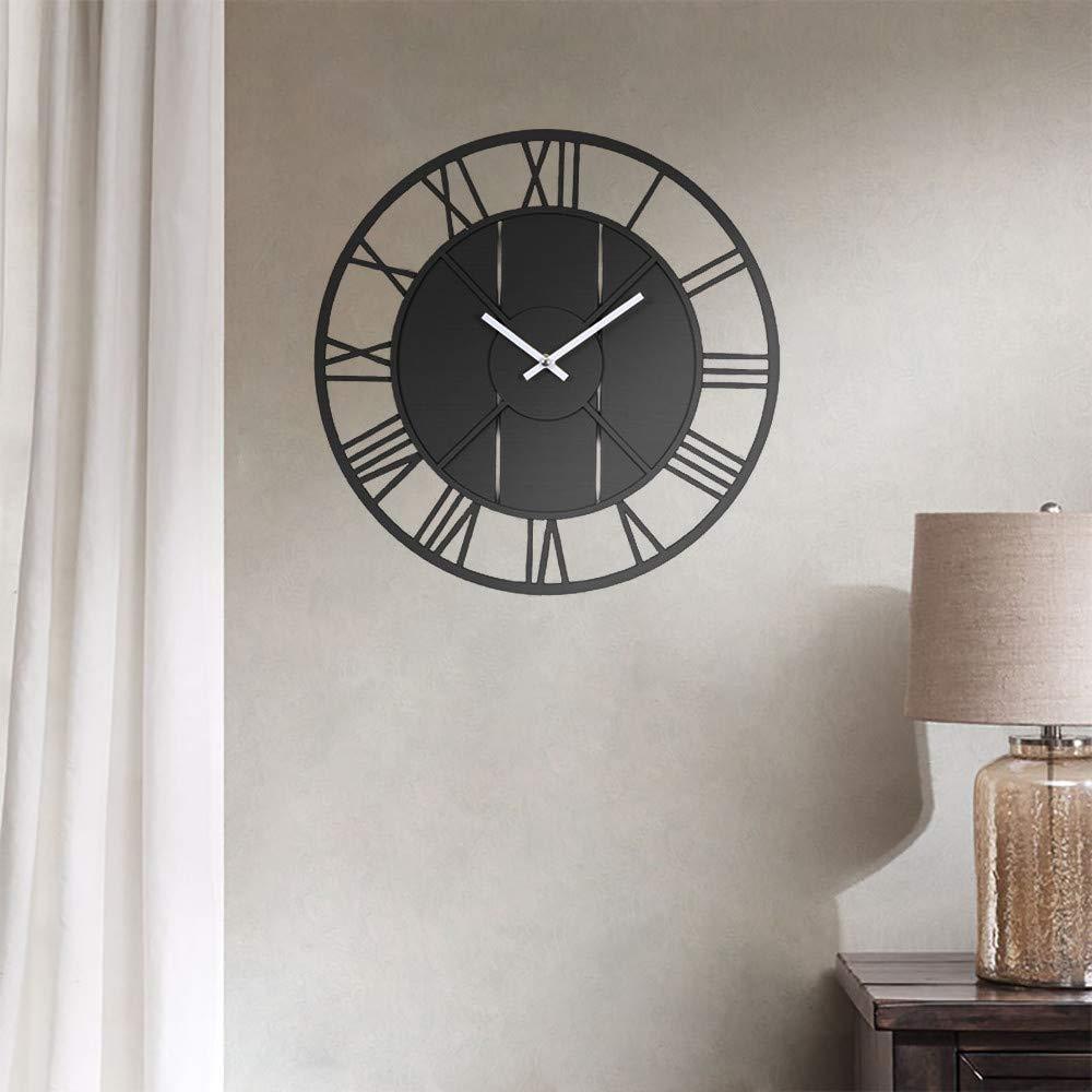 Modern Creative Silent Round Wood Wall Clock Home Office Decor European Style