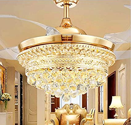 Hans lighting solutions hans lighting modern ceiling fan luxury chandelier with remotegold