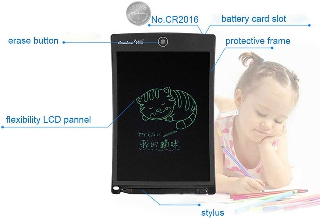 Goodao Howshow 8.5 inch LCD Pressure Sensing E-Note Paperless Writing Tablet//Writing Board Color : Blue Black