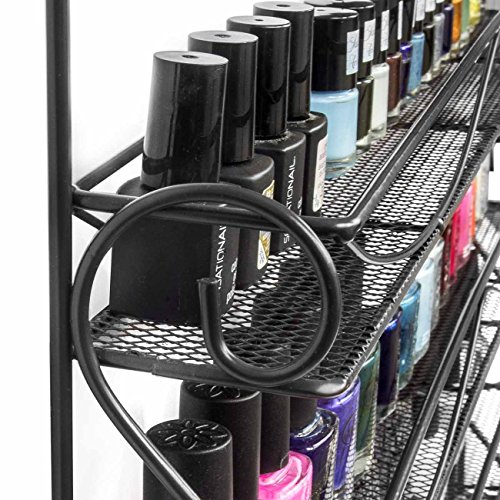 Sorbus 6 Tier Nail Polish Rack & Multi-Purpose Wall Organizer Display - Metal Vintage Style Mountable Shelf Holds at Least 72 Nail Polishes - Great for Home, Business, Salon, Spa, and More by Sorbus (Image #4)