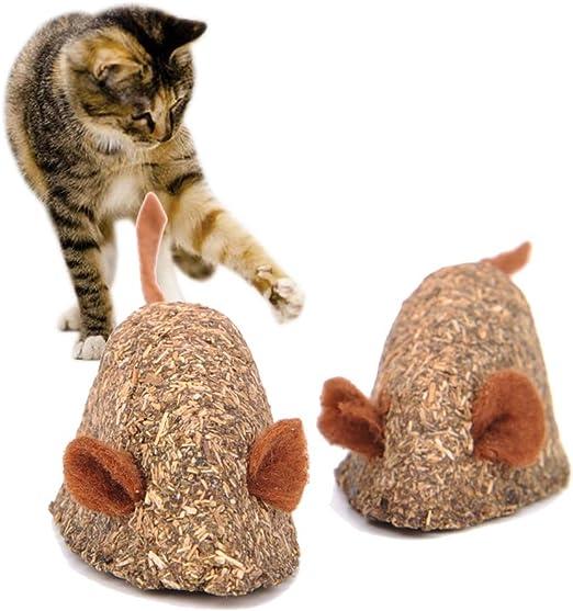 Vidillo - Ratón de juguete para gatos, juguete comestible para gatos, juguete para gatos, juguete para gatos, juguete interactivo para gatos, regalo para gatos, gatitos, mascotas, 2 unidades: Amazon.es: Productos para mascotas