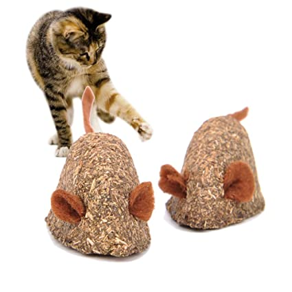 Vidillo Catnip Toys Mouse for Cats, Cat Toy Mice Kitten Toys, Cat Edible Toy