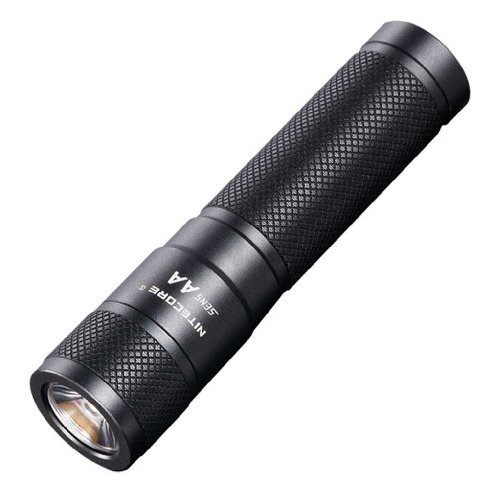 Nitecore Sens Mini AA LED Flashlight with Active Dimming Uses AA SENS AA, 120 lm, Black
