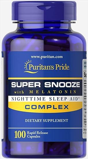 Amazon.com: Puritan s Pride Super Snooze con Melatonina ...