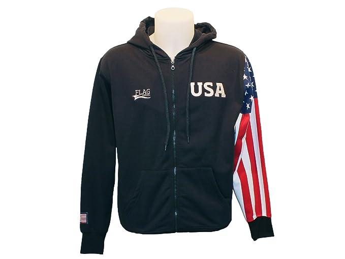 Amazon.com: Bandera Sudadera con Capucha Bandera Americana ...