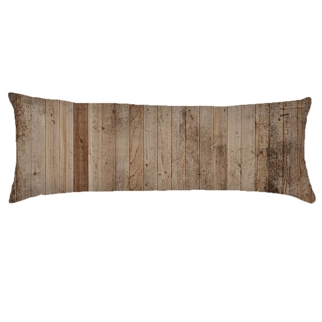 Alicia Haines Wood Body Pillow Cover Decorative Pillowcase With Double Sided 20''x54''