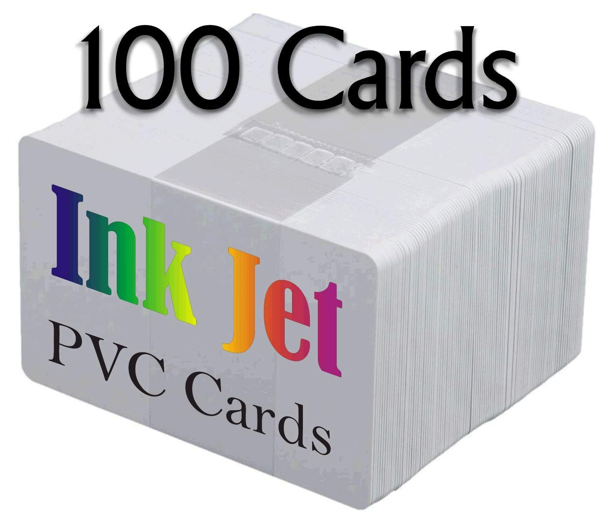 BigInk Inkjet PVC Cards (100 Pack) - 30 Mil - PVC ID Cards, Best Quality, Enhanced Ink Receptive Coating - Waterproof, Double Sided, Edge to Edge Printing.