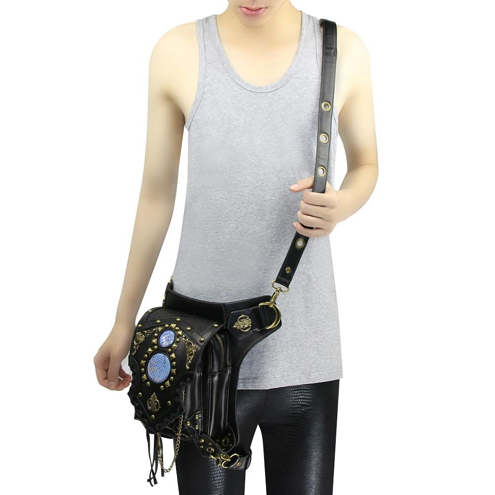 WPYZL Multi - functional women 's shoulder oblique cross - chain package punk pockets by Bumbag&KAIMENDAJI (Image #3)