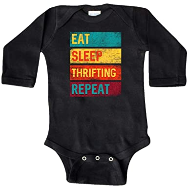 inktastic Bargain Shopper Eat Sleep Thrifting Repeat Baby T-Shirt