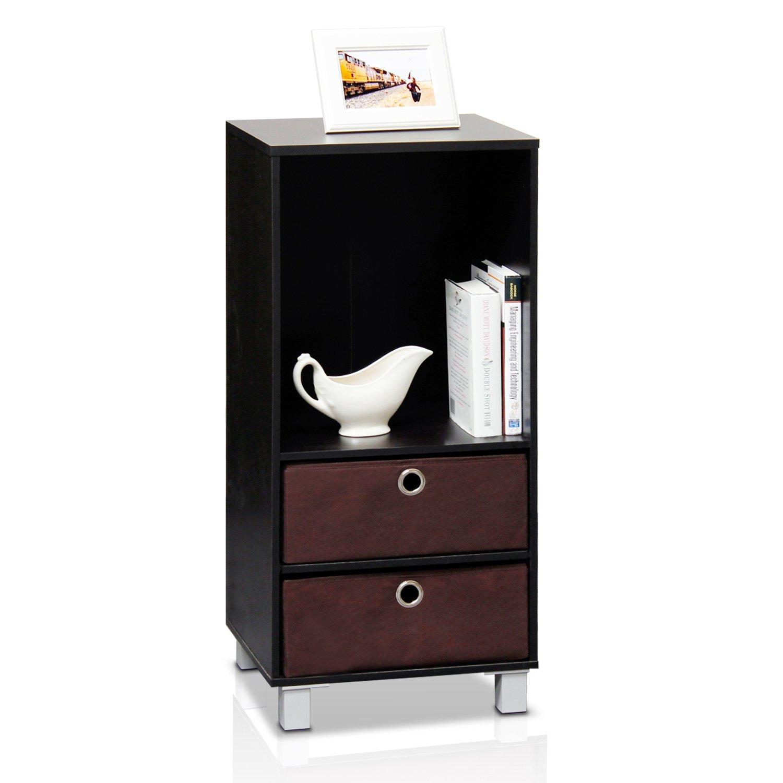 Amazon.com: Furinno 10002EX/BR 3 Shelves Cabinet/Bedside Night ...