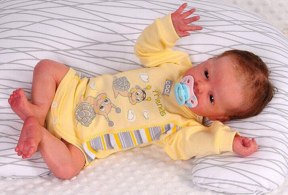Body Erstlingsbody Langarmbody Neugeborene Frühchen Reborn