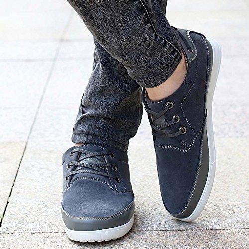 ZXCV Zapatos al aire libre Zapatos de los hombres sigilo dentro del aumento de los zapatos de negocios zapatos de la moda transpirable zapatos zapatos de mano casual Gris