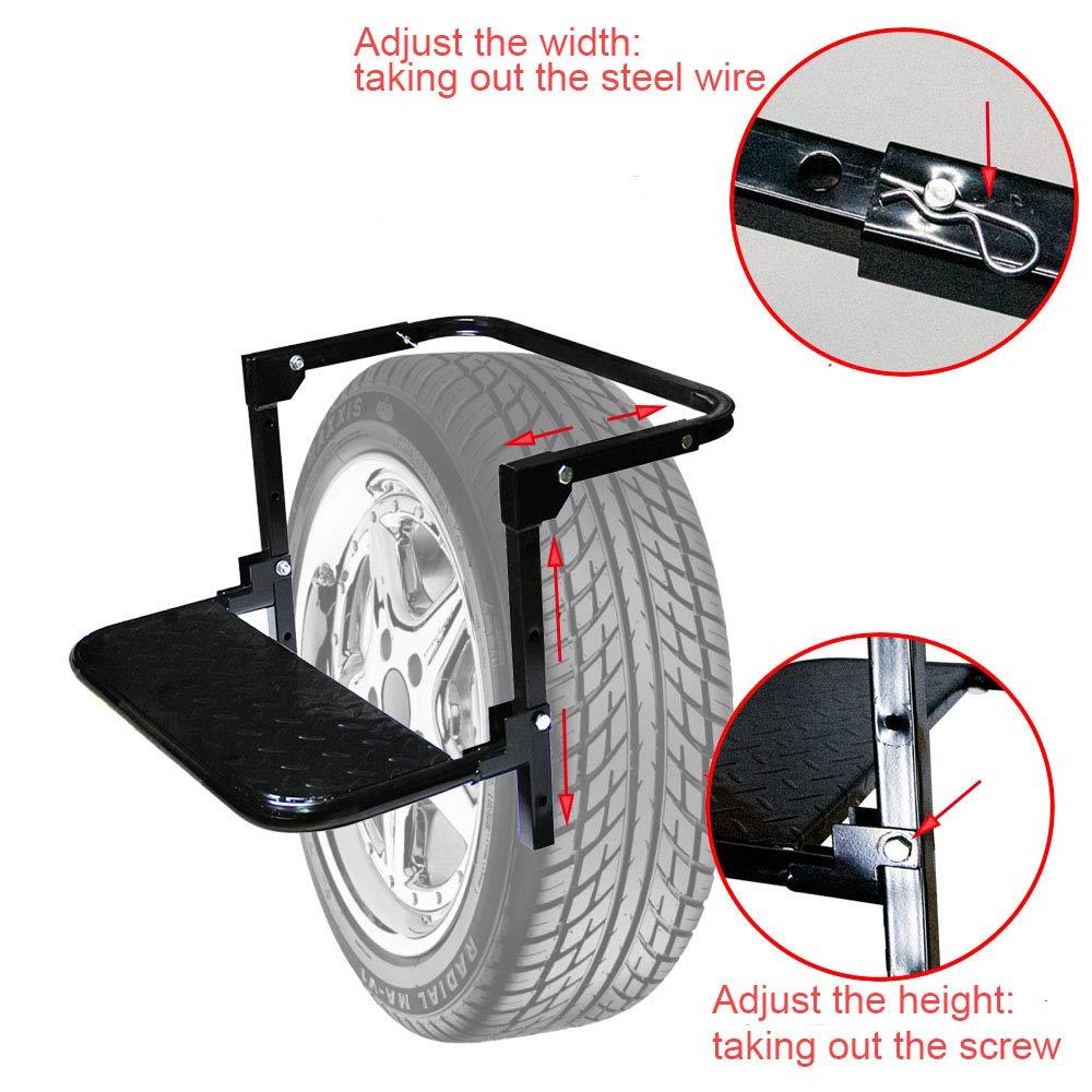 Auto Procarry Tire Step, Black Adjustable Truck Tire Step Fits 13.5-inch by Auto Procarry (Image #3)