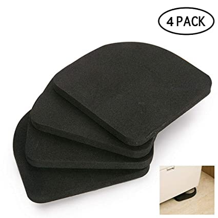 Bathroom Hardware Bathroom Fixtures 4pcs Multifunctional Refrigerator Washing Machine Anti-vibration Pad Mat