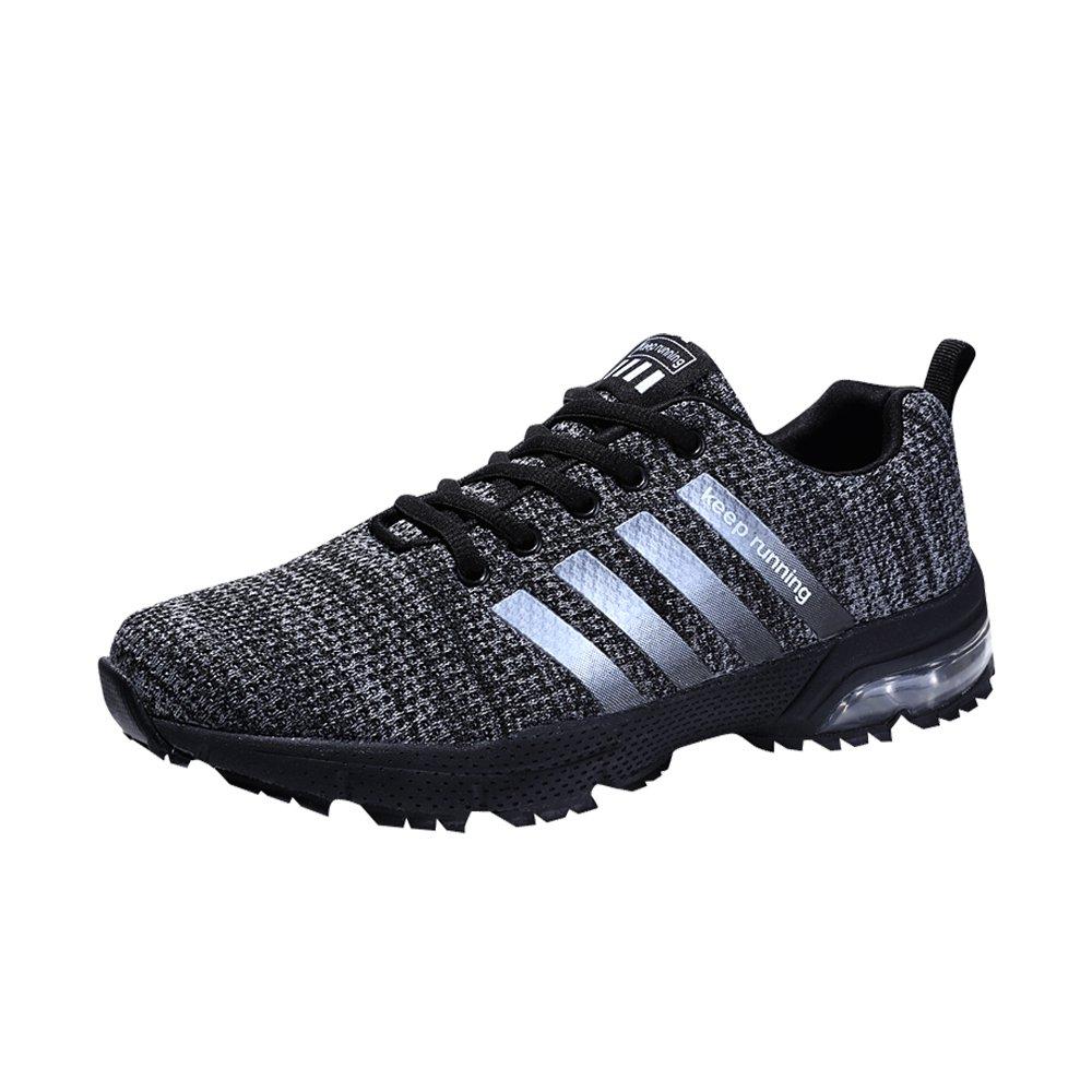 MUOU Sneaker Herren Laufschuhe Breathable Herren Turnschuhe Sport Outdoor Schuhe Mode Schuhe  42 EU|Schwarz