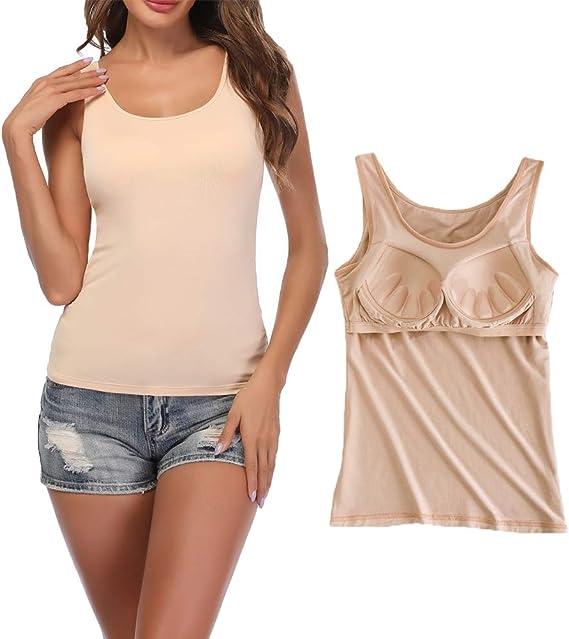STARBILD Camiseta Mujer Interior de Microfibra Camisola Larga Básica de Mujeres Camisola de Tirante de Spaghetti Ajustable: Amazon.es: Ropa y accesorios
