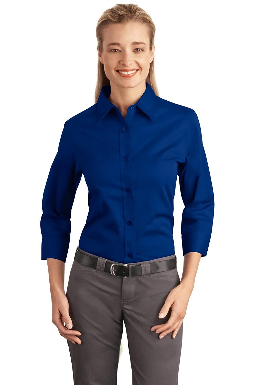 97cb4d2f Port Authority Women's 3/4 Sleeve Easy Care Shirt at Amazon Women's  Clothing store: