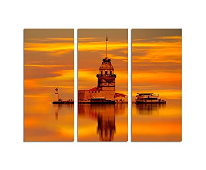Leander 130 X Di Tela Istanbul Cm Su Goldroter 90 Torre Quadro K1FcJl