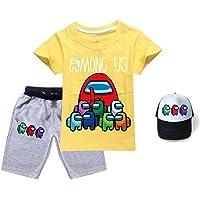 Unisex niños Juego de Dibujos Animados Among US 3 Pieza Trajes Camiseta de Manga Corta + Pantalones Cortos + Sombrero de…