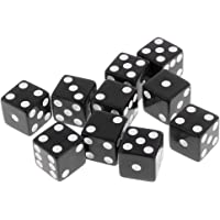 Segolike Set of 10 Pieces Six Sided D6 Dices Digital Dices Set for D&D TRPG MTG DND Playing Game Dice Toys Party Casino Board Games Toys - black