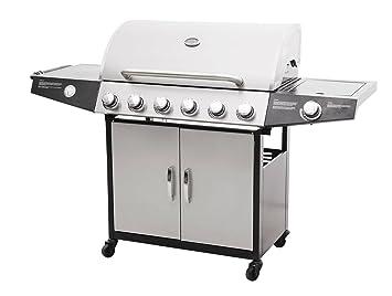 Barbacoa/BBQ Vulcano AU Gas 6 + 1 de acero esmaltado y acero ...