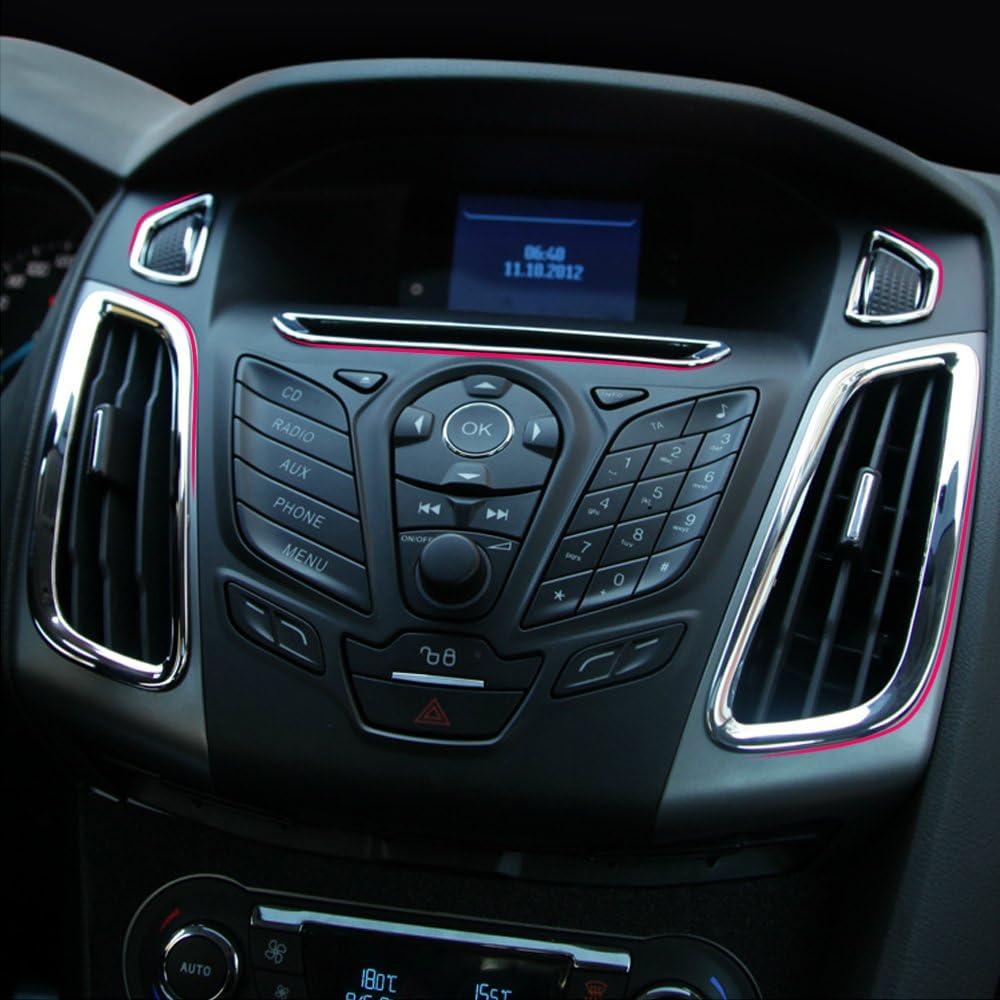 para Ford Focus 3 MK 3 2012 2013 GLEETIEZ 5 Piezas ABS Coche Interior Ajuste Aire Salida decoraci/ón Anillo