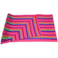 Autentic Mexican Rebozo Shawl Blanket Made on Looms by Craftsmen's Hands