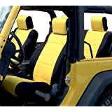 GEARFLAG Neoprene Seat Cover Custom fits Wrangler 2007-2017 JK Unlimited 4 Door with Side Airbag Opening Full Set (Front…