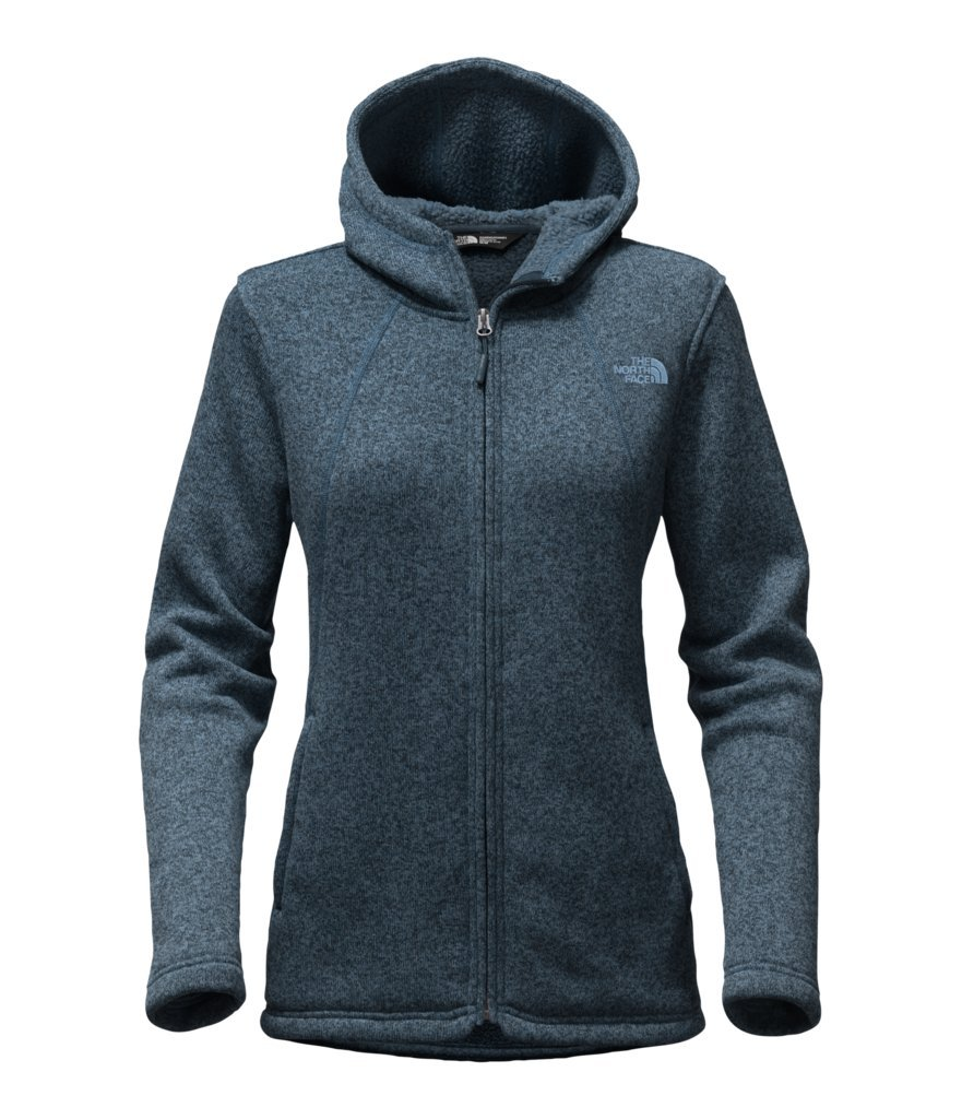 The North Face Women's Crescent Full Zip Hoodie - Ink Blue Heather - L (Past Season)