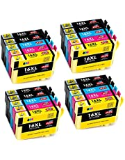 JIMIGO 16XL Ink Cartridges Replacement for Epson 16 Compatible ink cartridges (8Black, 4 Cyan,4 Magenta, 4Yellow)