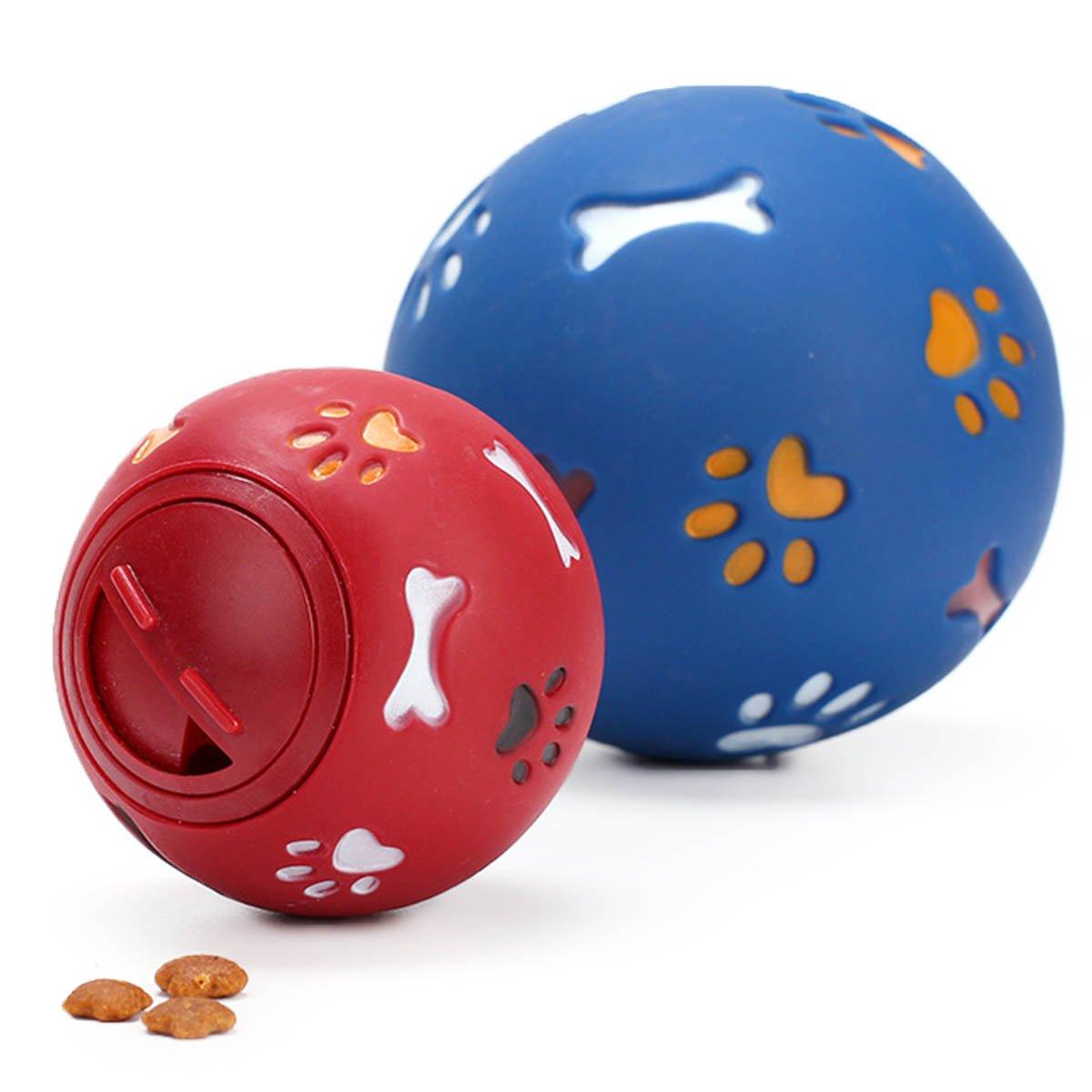 Vegxpet Juguete para Mascotas IQ Ball Interacative Puppy Treat Ball dispensador de Alimentos Actividad Bite Juguete