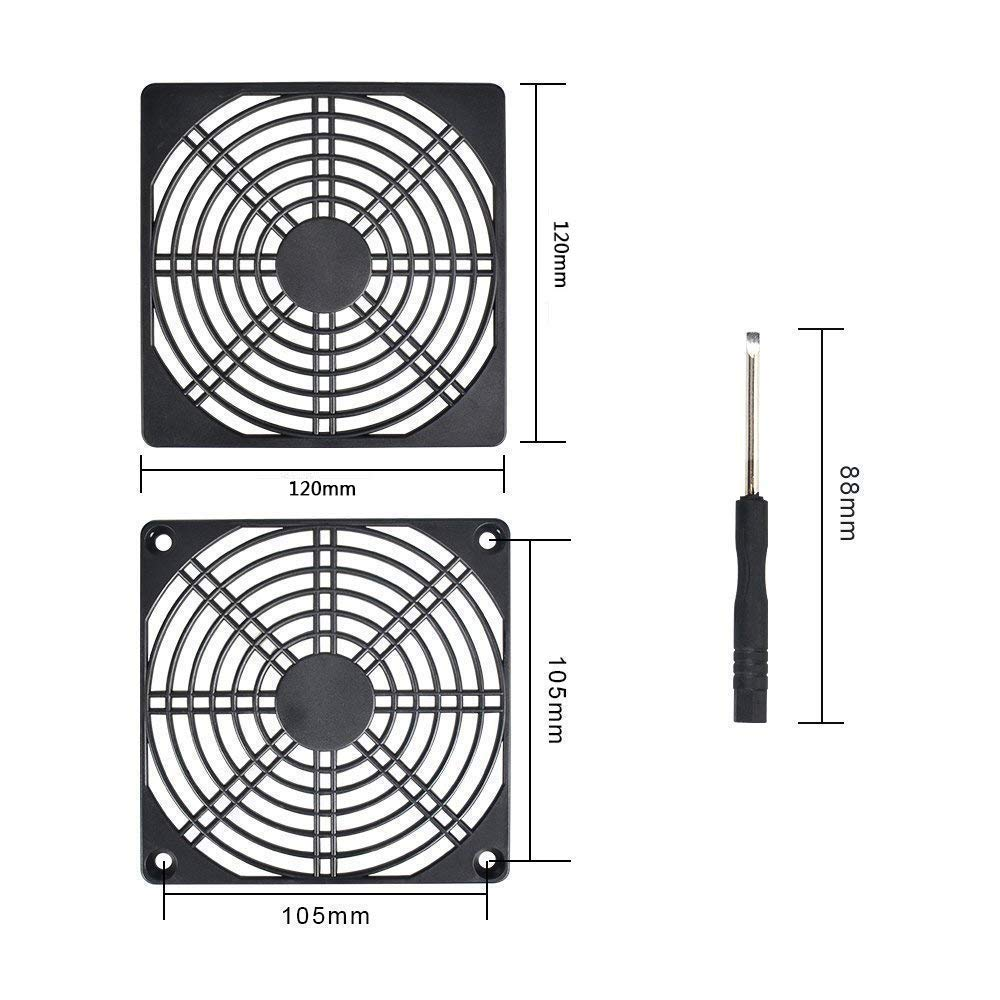 3 in 1 Durable Dustproof Case Cover Computer Mesh Fan Grill Guard Washable Reusable ELUTENG 120mm Fan Dust Filters Computer PC Cooler Fan Filter PC Fan Grill Set Two Combinations