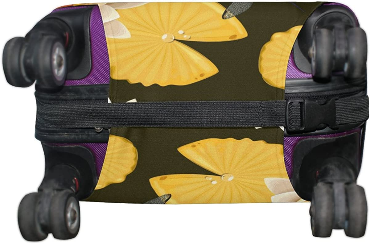 GIOVANIOR Dragonflies And Lotus Luggage Cover Suitcase Protector Carry On Covers