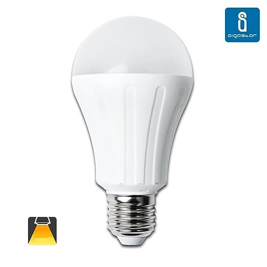 Aigostar Bombilla LED A65 de 15W, Rosca Grande y luz cálida E27