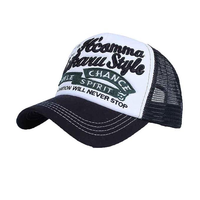 26a26701ede Summer Embroidery Baseball Cap for Women Outdoor Sunscreen Mesh Caps Casual  Sport Snapback Hat Men Hip Hop Cap at Amazon Men s Clothing store