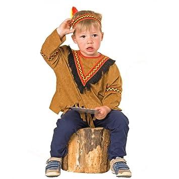 Bebé india traje, tamaño 92, rojo de la pluma del carnaval: Amazon ...