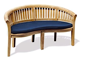 Phenomenal Jati Teak Banana Bench Cushion Only Brand Quality Value Navy Blue Colour Cjindustries Chair Design For Home Cjindustriesco